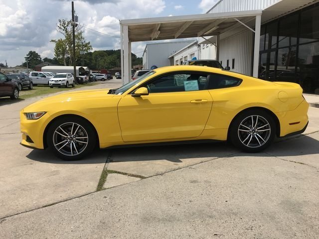 2017 Triple Yellow Tri-Coat Ford Mustang EcoBoost Premium EcoBoost 2.3L I4 GTDi DOHC Turbocharged VCT Engine 2 Door Coupe