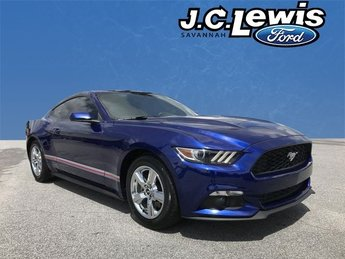 2015 Deep Impact Blue Metallic Ford Mustang EcoBoost Coupe EcoBoost 2.3L I4 GTDi DOHC Turbocharged VCT Engine 2 Door RWD