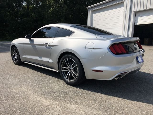 2016 Ingot Silver Metallic Ford Mustang EcoBoost 2 Door Coupe EcoBoost 2.3L I4 GTDi DOHC Turbocharged VCT Engine