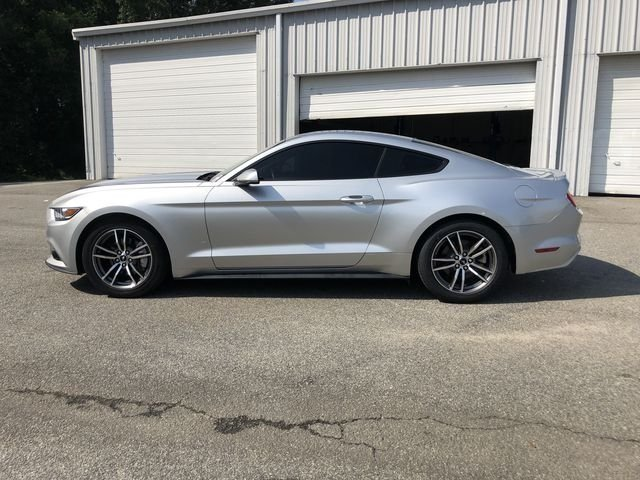 2016 Ingot Silver Metallic Ford Mustang EcoBoost Coupe 2 Door EcoBoost 2.3L I4 GTDi DOHC Turbocharged VCT Engine RWD
