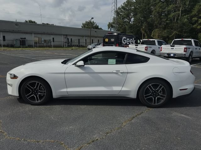 2018 Oxford White Ford Mustang EcoBoost Premium RWD Coupe EcoBoost 2.3L I4 GTDi DOHC Turbocharged VCT Engine Automatic