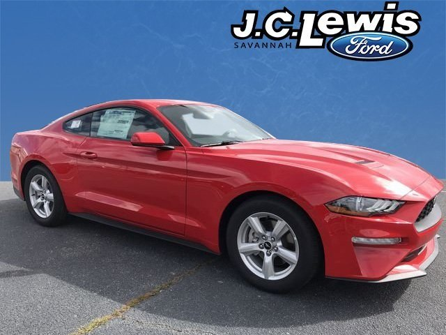 2019 Race Red Ford Mustang EcoBoost 2 Door RWD Coupe EcoBoost 2.3L I4 GTDi DOHC Turbocharged VCT Engine Automatic