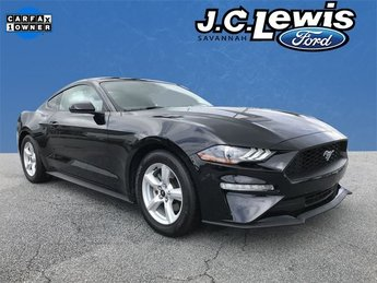 2018 Shadow Black Ford Mustang EcoBoost EcoBoost 2.3L I4 GTDi DOHC Turbocharged VCT Engine 2 Door Coupe RWD Automatic