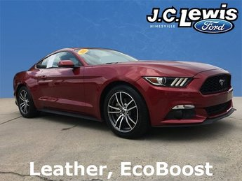 2017 Red Ford Mustang EcoBoost Automatic RWD EcoBoost 2.3L I4 GTDi DOHC Turbocharged VCT Engine Coupe 2 Door