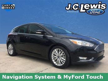2015 Tuxedo Black Ford Focus Titanium FWD 2.0L 4-Cylinder DGI DOHC Engine Hatchback 4 Door Automatic