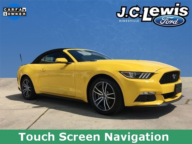2017 Triple Yellow Tri-Coat Ford Mustang EcoBoost Premium Automatic EcoBoost 2.3L I4 GTDi DOHC Turbocharged VCT Engine Convertible RWD