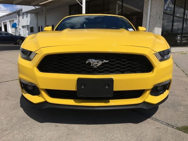2017 Triple Yellow Tri-Coat Ford Mustang EcoBoost Premium RWD Automatic EcoBoost 2.3L I4 GTDi DOHC Turbocharged VCT Engine Convertible 2 Door