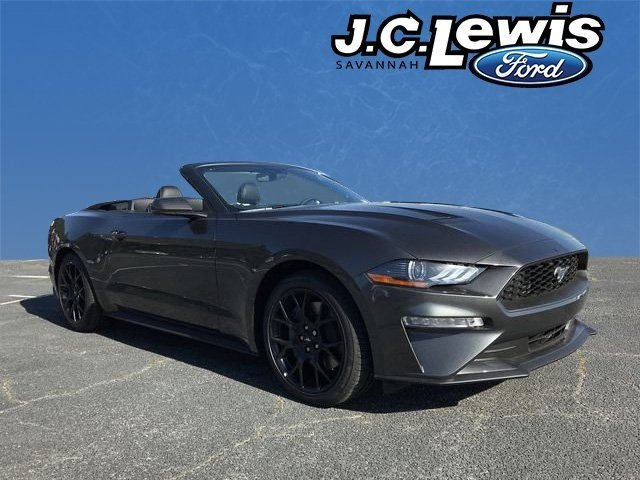 2019 Magnetic Metallic Ford Mustang EcoBoost Premium 2 Door EcoBoost 2.3L I4 GTDi DOHC Turbocharged VCT Engine RWD Convertible Automatic
