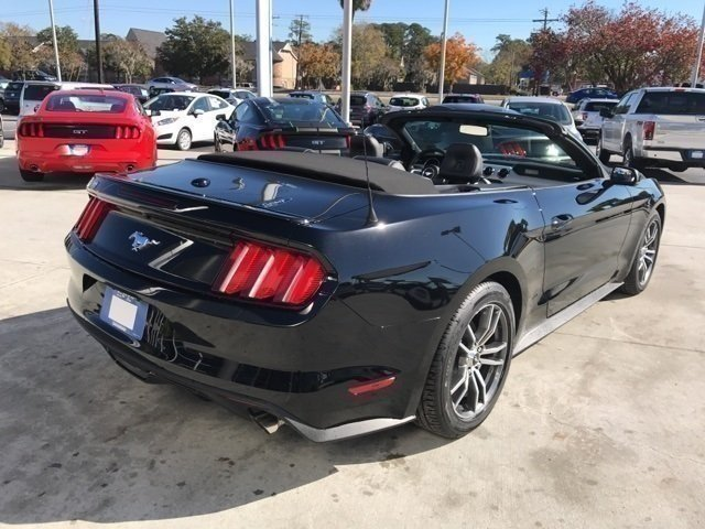 2017 Shadow Black Ford Mustang EcoBoost Premium Automatic Convertible 2 Door RWD