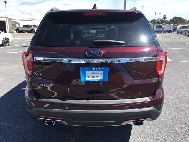 2018 Burgundy Velvet Metallic Tinted Clearcoat Ford Explorer XLT 4 Door FWD Automatic