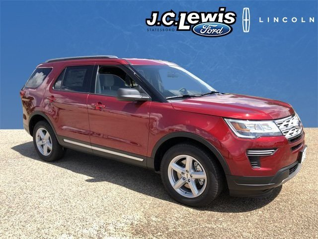 2018 Ruby Red Metallic Tinted Clearcoat Ford Explorer XLT 3.5L V6 Ti-VCT Engine FWD Automatic