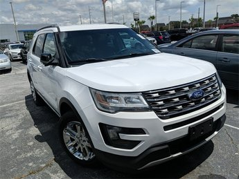 2016 White Ford Explorer XLT 3.5L 6-Cylinder SMPI DOHC Engine FWD SUV Automatic 4 Door