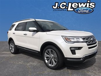 2018 White Metallic Ford Explorer Limited 3.5L V6 Ti-VCT Engine 4 Door FWD Automatic