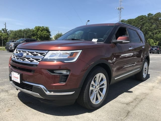 2018 Cinnamon Glaze Metallic Ford Explorer Limited SUV 4 Door Automatic 3.5L V6 Ti-VCT Engine FWD