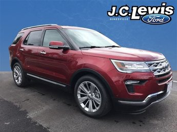2018 Ruby Red Metallic Tinted Clearcoat Ford Explorer Limited 4 Door Automatic 3.5L V6 Ti-VCT Engine