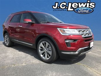 2018 Ruby Red Metallic Tinted Clearcoat Ford Explorer Limited Automatic FWD 4 Door SUV 3.5L V6 Ti-VCT Engine
