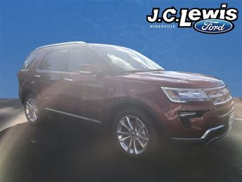 2018 Ruby Red Metallic Tinted Clearcoat Ford Explorer Limited 4 Door 2.3L I4 Engine SUV FWD