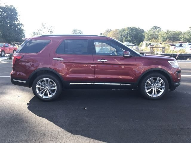2018 Ruby Red Metallic Tinted Clearcoat Ford Explorer Limited Automatic 2.3L I4 Engine SUV FWD 4 Door