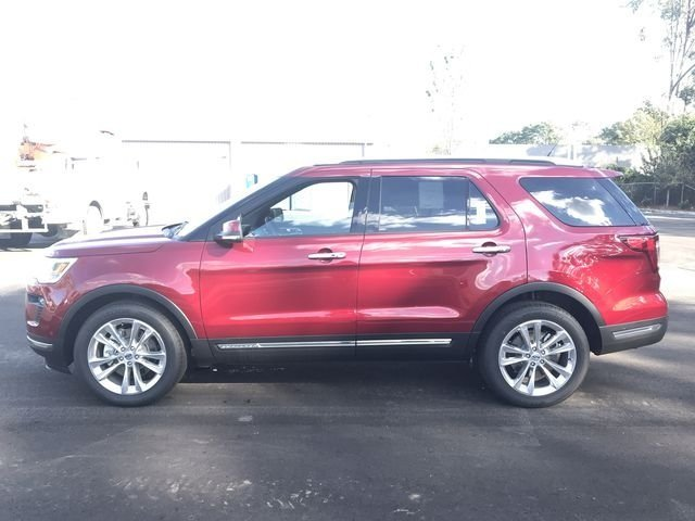 2018 Ruby Red Metallic Tinted Clearcoat Ford Explorer Limited 4 Door SUV 2.3L I4 Engine
