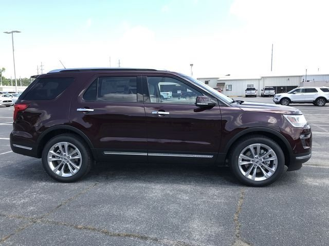 2018 Burgundy Velvet Metallic Tinted Clearcoat Ford Explorer Limited Automatic SUV 2.3L I4 Engine FWD 4 Door