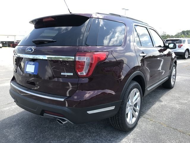 2018 Burgundy Velvet Metallic Tinted Clearcoat Ford Explorer Limited SUV 4 Door 2.3L I4 Engine FWD