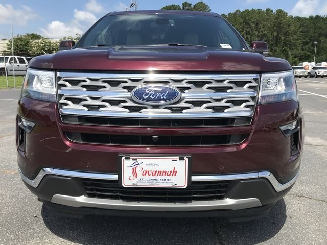2018 Burgundy Velvet Metallic Tinted Clearcoat Ford Explorer Limited 4 Door SUV 2.3L I4 Engine