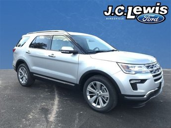 2018 Ingot Silver Metallic Ford Explorer Limited 2.3L I4 Engine SUV Automatic