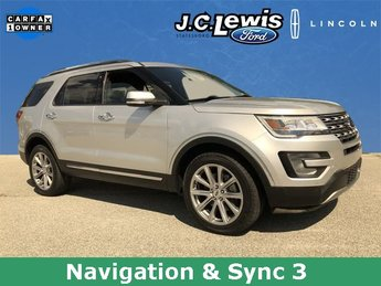 2017 Shadow Black Ford Explorer Limited SUV 3.5L 6-Cylinder SMPI Turbocharged DOHC Engine Automatic 4X4