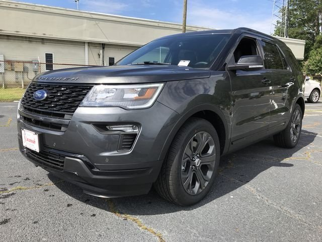 2018 Magnetic Metallic Ford Explorer Sport SUV Automatic 4 Door 3.5L Engine 4X4
