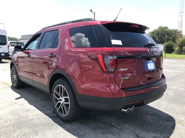 2018 Ruby Red Metallic Tinted Clearcoat Ford Explorer Sport 4 Door 4X4 SUV 3.5L Engine Automatic