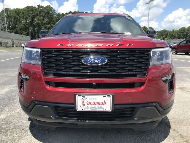 2018 Ruby Red Metallic Tinted Clearcoat Ford Explorer Sport 3.5L Engine SUV 4X4 4 Door Automatic