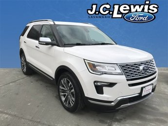 2018 White Metallic Ford Explorer Platinum 4 Door Automatic 3.5L Engine
