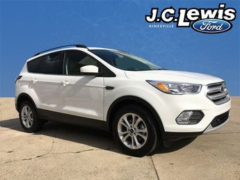 2018 Oxford White Ford Escape SE SUV EcoBoost 1.5L I4 GTDi DOHC Turbocharged VCT Engine 4 Door Automatic FWD