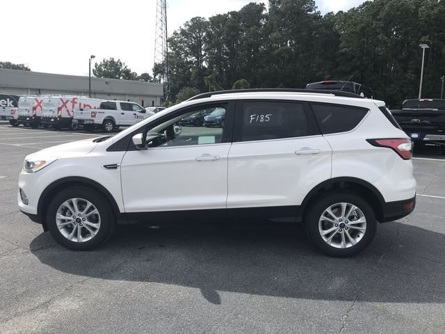 2018 White Platinum Clearcoat Metallic Ford Escape SEL SUV 4 Door EcoBoost 1.5L I4 GTDi DOHC Turbocharged VCT Engine