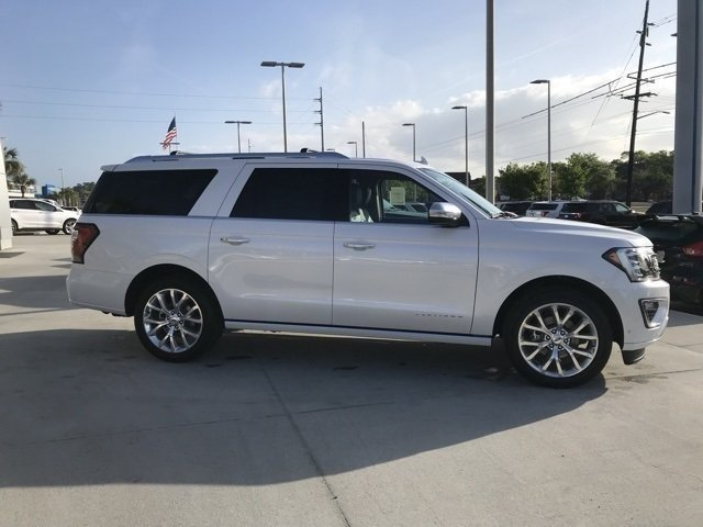 2018 White Metallic Ford Expedition Max Platinum RWD EcoBoost 3.5L V6 GTDi DOHC 24V Twin Turbocharged Engine Automatic 4 Door