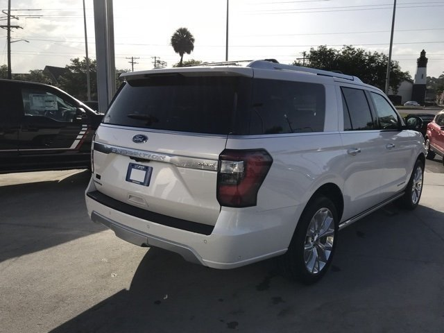 2018 White Metallic Ford Expedition Max Platinum SUV Automatic RWD 4 Door EcoBoost 3.5L V6 GTDi DOHC 24V Twin Turbocharged Engine