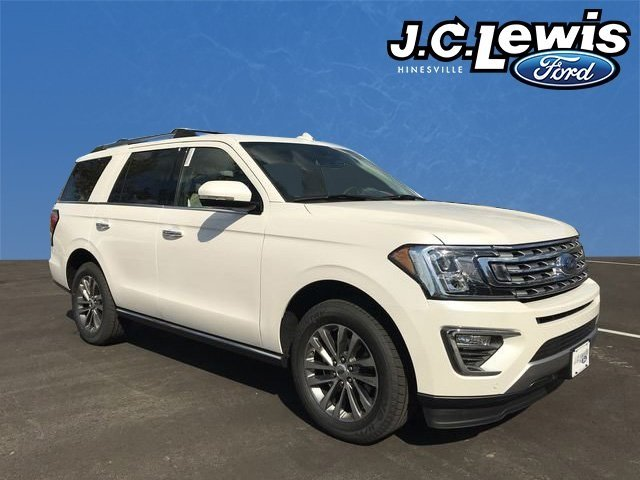 2018 White Metallic Ford Expedition Limited SUV EcoBoost 3.5L V6 GTDi DOHC 24V Twin Turbocharged Engine RWD Automatic 4 Door