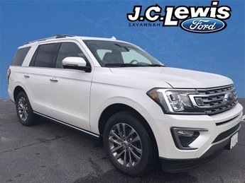 2018 White Metallic Ford Expedition Limited 4 Door RWD SUV