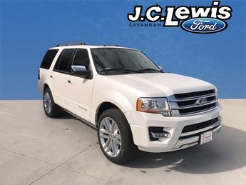 2017 White Platinum Metallic Tri-Coat Ford Expedition Platinum Automatic 4 Door EcoBoost 3.5L V6 GTDi DOHC 24V Twin Turbocharged Engine SUV RWD