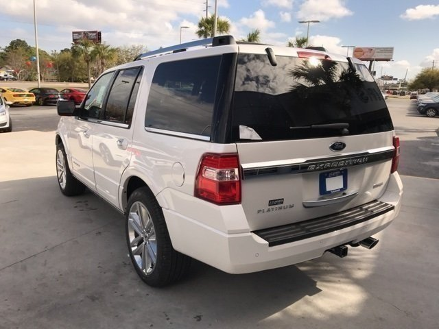 2017 White Platinum Metallic Tri-Coat Ford Expedition Platinum Automatic SUV EcoBoost 3.5L V6 GTDi DOHC 24V Twin Turbocharged Engine