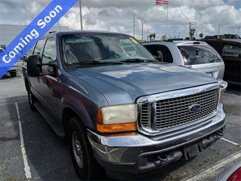 2001 Medium Steel Blue Clearcoat Metallic Ford Excursion XLT 4 Door Automatic RWD 5.4L V8 Engine SUV