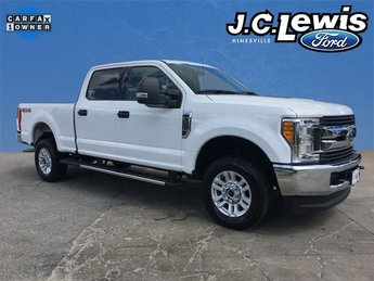 2017 White Ford Super Duty F-250 SRW XLT 6.2L V8 EFI SOHC 16V Flex Fuel Engine 4 Door Truck 4X4