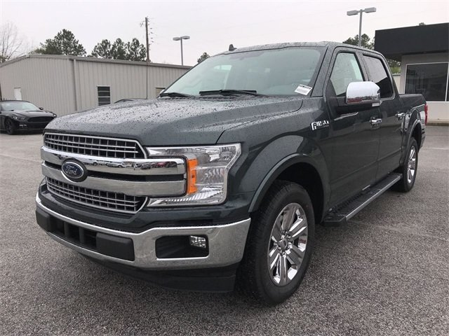 2018 Guard Metallic Ford F-150 Lariat Automatic Truck RWD 4 Door EcoBoost 3.5L V6 GTDi DOHC 24V Twin Turbocharged Engine
