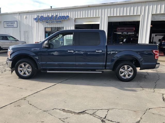 2018 Blue Ford F-150 XLT EcoBoost 2.7L V6 GTDi DOHC 24V Twin Turbocharged Engine Automatic Truck 4 Door