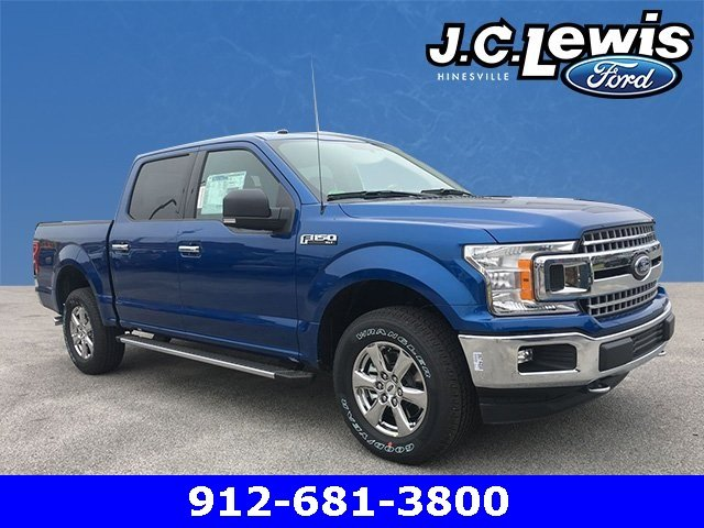 2018 Lightning Blue Ford F-150 XLT 4 Door Truck 4X4 Automatic 5.0L V8 Ti-VCT Engine