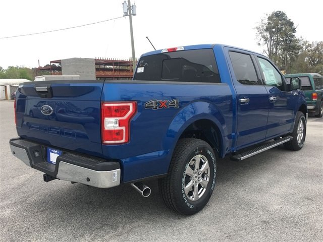2018 Lightning Blue Ford F-150 XLT 5.0L V8 Ti-VCT Engine Automatic 4 Door Truck