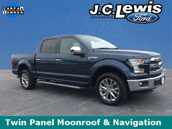2017 Blue Jeans Metallic Ford F-150 Lariat 4X4 Automatic Truck 5.0L V8 FFV Engine