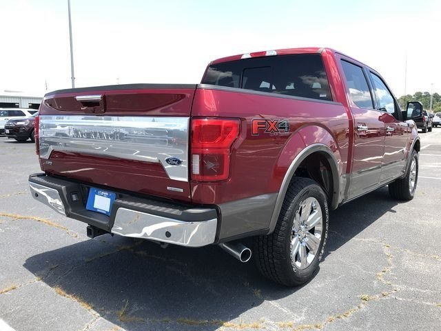 2018 Ruby Red Metallic Tinted Clearcoat Ford F-150 King Ranch 4 Door 4X4 Truck EcoBoost 3.5L V6 GTDi DOHC 24V Twin Turbocharged Engine Automatic