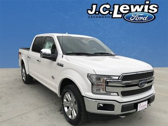 2018 White Platinum Metallic Tri-Coat Ford F-150 King Ranch EcoBoost 3.5L V6 GTDi DOHC 24V Twin Turbocharged Engine Truck 4 Door