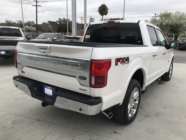 2018 White Platinum Metallic Tri-Coat Ford F-150 King Ranch EcoBoost 3.5L V6 GTDi DOHC 24V Twin Turbocharged Engine 4 Door Automatic Truck